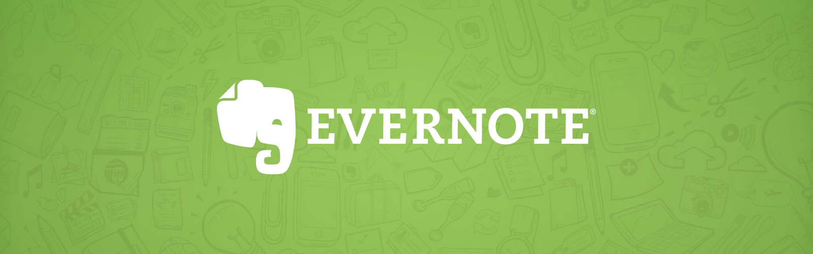 Logotipo do Evernote sobre fundo verde